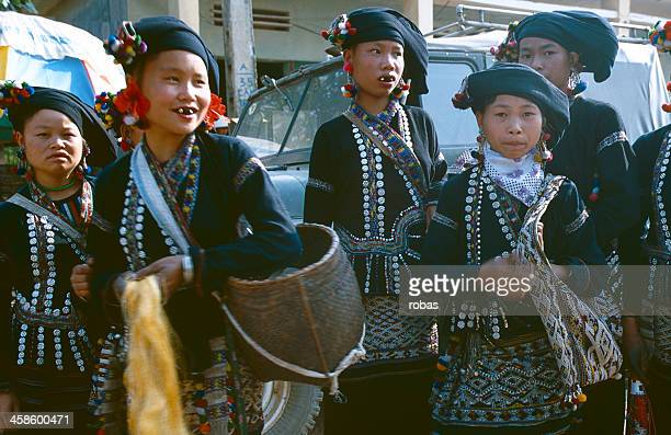 Lu Girls in traditional clothing, Sa Pa Vietnam
