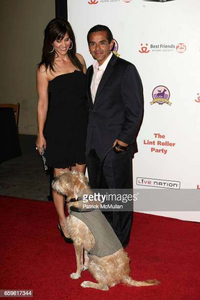 Lu Parker and Mayor Antonio Villaraigosa attend Best Friends Animal Society 16th Annual Lint Roller Party at Hollywood Palladium on October 3 2009 in...