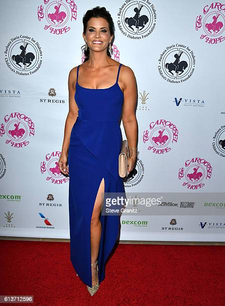 Lu Parker arrives at the 2016 Carousel Of Hope Ball at The Beverly Hilton Hotel on October 8 2016 in Beverly Hills California