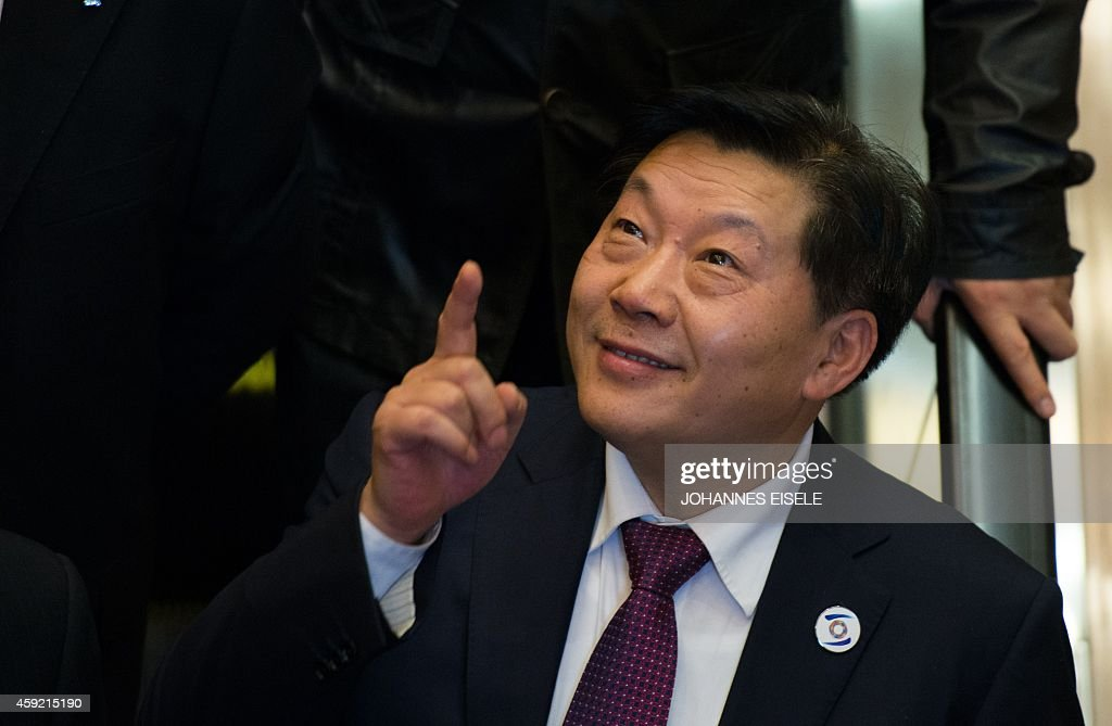 Lu Wei, China's Minister of Cyberspace Affairs Administration, gestures after giving a speech at the opening ceremony of the World Internet Conference in Wuzhen, in eastern China's Zhejiang province on November 19, 2014. China, which censors online content it deems to be politically sensitive, opened the World Internet Conference in Wuzhen with the country's biggest Internet companies in attendance alongside a sprinkling of foreign executives and officials. AFP PHOTO / JOHANNES EISELE Wuzhen SHA