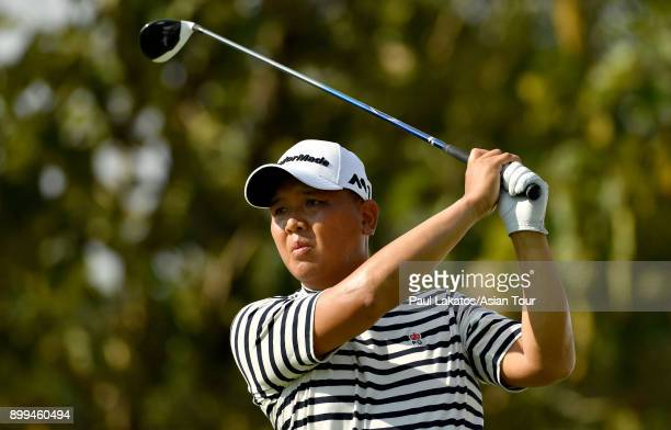 Lu Weichih of Chinese Taipai pictured during round two of the Royal Cup on December 29 2017 in Pattaya Thailand