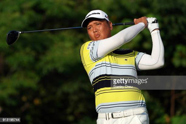 Lu Weichih of Chinese Taipei during day two of the 2018 Maybank Championship Malaysia at Saujana Golf and Country Club on February 2 2018 in Kuala...