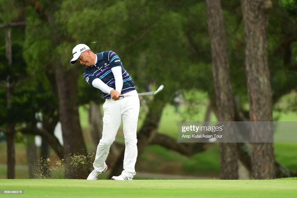Lu Wei-chih of Taiwan during round three of the Yeangder Tournament Players Championship at Linkou lnternational Golf and Country Club on October 7, 2017 in Taipei, Taiwan.