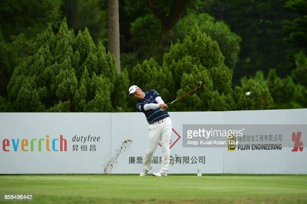 Lu Weichih of Taiwan during round three of the Yeangder Tournament Players Championship at Linkou lnternational Golf and Country Club on October 7...