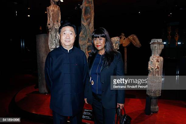 Lu Zhangshen and Anne Kerchache attend the 'Jacques Chirac ou le Dialogue des Cultures' Exhibition during the 10th Anniversary of Quai Branly Museum...