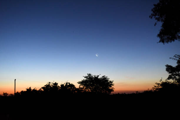 Lua nova na noite campeira
