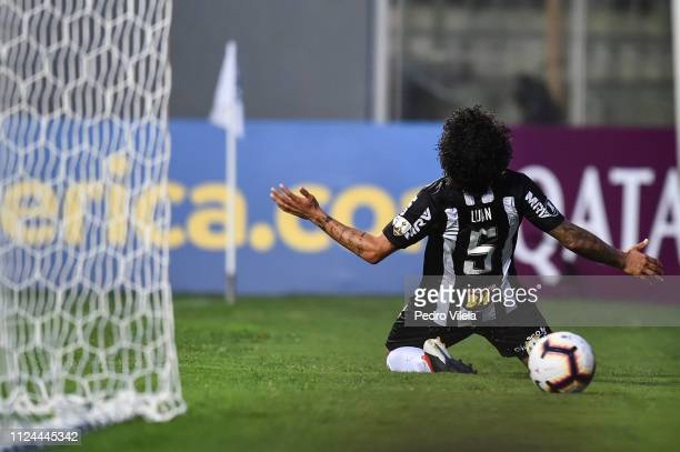 Luan of Atletico MG celebrates a scored goal against Danubio during a match between Atletico MG and Danubio as part of Copa CONMEBOL Libertadores...