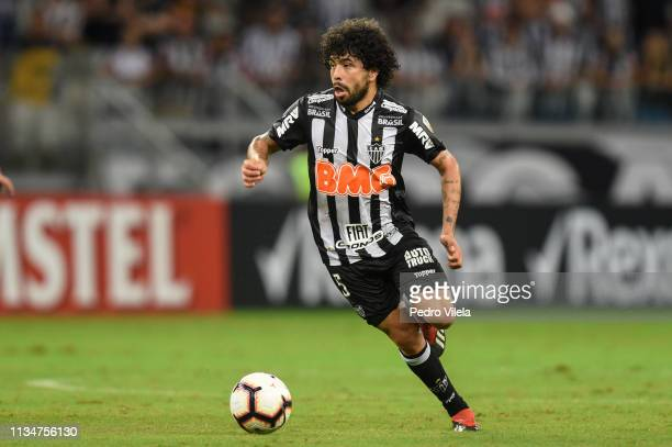 Luan of Atletico MG drives the ball during a match between Atletico MG and Zamora as part of Copa CONMEBOL Libertadores 2019 at Mineirao stadium on...