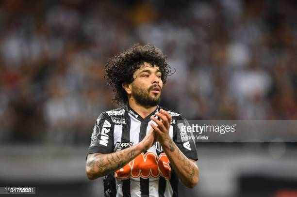 Luan of Atletico MG gestures during a match between Atletico MG and Zamora as part of Copa CONMEBOL Libertadores 2019 at Mineirao stadium on April 3...