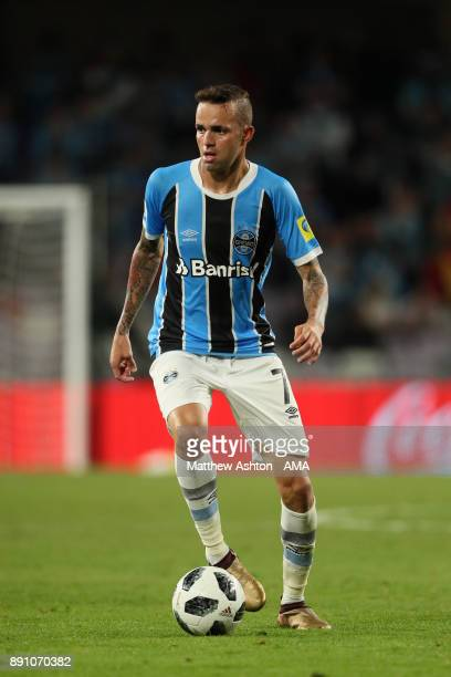 Luan of Gremio FBPA in action during the FIFA Club World Cup UAE 2017 semifinal match between Gremio FBPA and CF Pachuca at Hazza Bin Zayed Stadium...