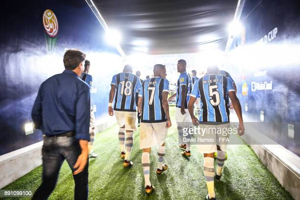 Luan of Gremio FBPA walks out the tunnel area after the halftime during the FIFA Club World Cup UAE 2017 semifinal match between Gremio FBPA and CF...