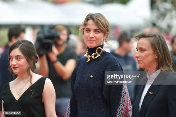 Luana Bajrami Adele Haenel and Celine Sciamma attends the screening of Portrait Of A Lady On Fire during the 72nd annual Cannes Film Festival on May...