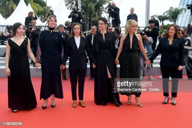 Luana Bajrami Adele Haenel Celine Sciamma Noemie Merlant Valeria Golino and Benedicte Couvreur attend the screening of Portrait Of A Lady On Fire...