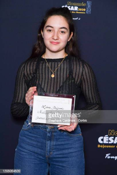 Luana Bajrami nominated for 'most promising Actress' in 'Portrait de la jeune fille en feu' attends the Cesar 2020 Nominee Luncheon At Le Fouquet's...