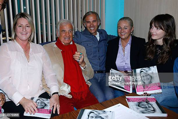 Luana Belmondo actor JeanPaul Belmondo his son Paul Belmondo JeanPaul's daughter Florence Belmondo and her daughter Anabel Belmondo attend Luana...