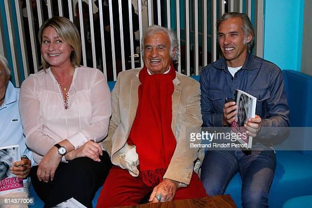 Luana Belmondo JeanPaul Belmondo and his son Paul Belmondo attend Luana Belmondo presents her book 'Mes Recettes Bonne Humeur' at Ida Restaurant in...