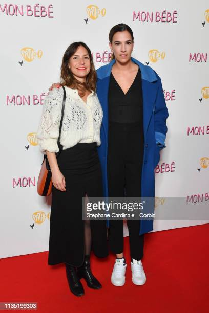 Luana Duchemin and Charlotte Gabris attend Mon Bebe Paris Premiere at Cinema Gaumont Opera on March 11 2019 in Paris France