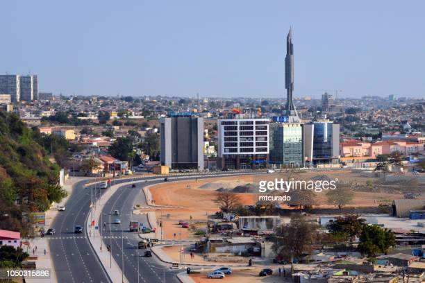 Luanda, Angola: the new south waterfront avenue, office buildings and Agostinho Neto mausoleum - Agostinho Neto / Praia do Bispo Avenue - Avenida Marginal Sul