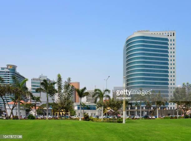 Luanda - corniche - colonial buildings and modern towers - Avenida Marginal, 4 de Fevereiro, Angola (Sonangol and Atlantic Towers)