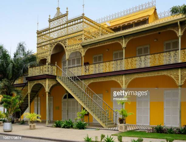 luanda - the iron palace, by eiffel - palácio de ferro, angola - gustave eiffel stock pictures, royalty-free photos & images