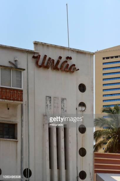 Luanda: the old building of União Comercial de Automóveis, Rua Rainha Ginga, Angola