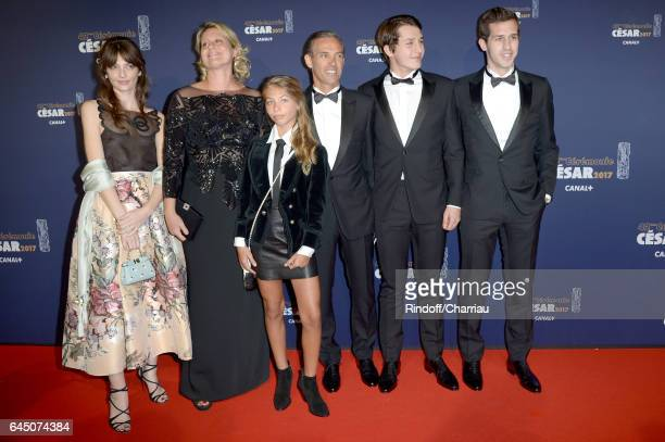Luane Belmondo Stella Belmondo Paul Belmondo and Victor Belmondo arrive at the Cesar Film Awards Ceremony at Salle Pleyel on February 24 2017 in...