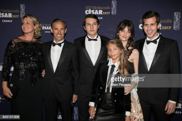 Luane Belmondo Stella Belmondo Paul Belmondo and Victor Belmondo attend the the Cesar Film Awards 2017 ceremony at Salle Pleyel on February 24 2017...