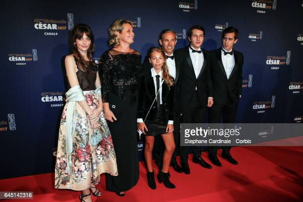 Luane Belmondo Stella Belmondo Paul Belmondo and Victor Giacomo Belmondo arrive at the Cesar Film Awards 2017 ceremony at Salle Pleyel on February 24...