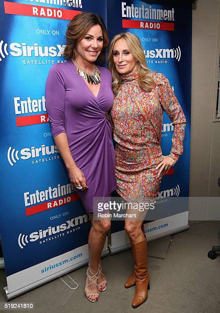 Luann de Lesseps and Sonja Morgan visit Entertainment Weekly Radio at SiriusXM Studio on April 5 2016 in New York City
