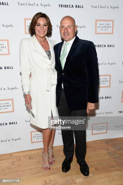 Luann de Lesseps and Tom D'Agostin attend the 2017 Tribeca Ball at the New York Academy of Art on April 3 2017 in New York City