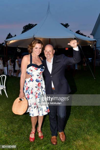 Luann de Lesseps and Tom DÕAgostino Jr attend Alzheimer's Association Hosts Rita Hayworth Gala Hamptons Kickoff Event at Private Residence on July 28...