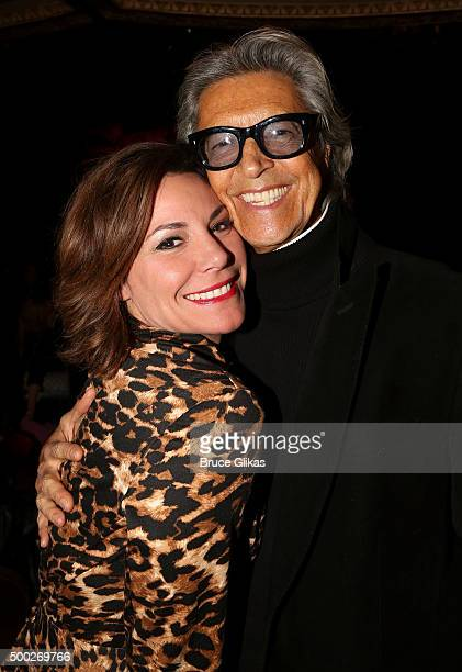 Luann de Lesseps and Tommy Tune pose at the Opening Night of 'School of Rock' on Broadway at The Winter Garden Theatre on December 6 2015 in New York...