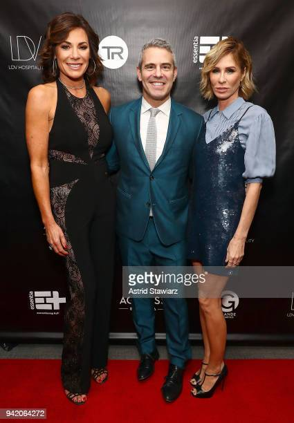 Luann de Lesseps Andy Cohen and Carole Radziwill attend The Real Housewives of New York Season 10 premiere celebration at LDV Hospitality's The...