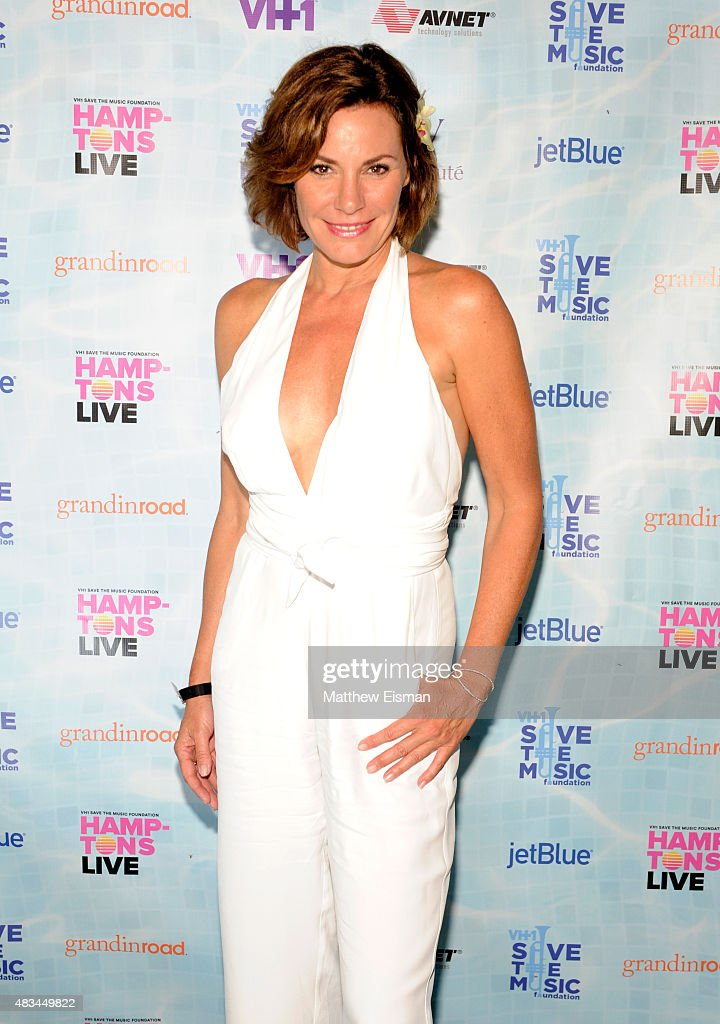 LuAnn de Lesseps at VH1 Save The Music Foundation's 'Hamptons Live' benefit hosted by Billy and Julie Macklowe at a private estate in Sagaponack, NY on August 8, 2015.