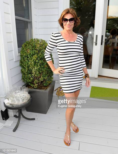 LuAnn de Lesseps attends a Memorial Day party hosted by Haley and Jason Binn on May 30 2010 in Southampton New York