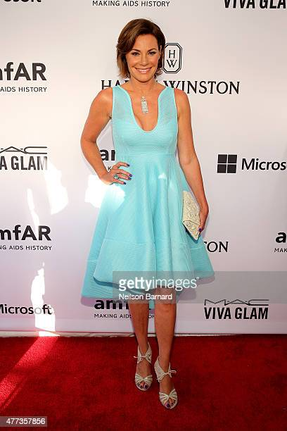 LuAnn de Lesseps attends the 2015 amfAR Inspiration Gala New York at Spring Studios on June 16 2015 in New York City