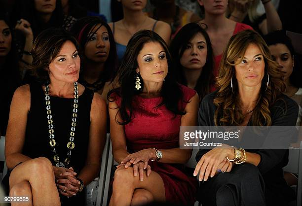 LuAnn de Lesseps Bethenny Frankel and Kelly Bensimon attends Pamella Roland Spring 2010 fashion show at Bryant Park on September 15 2009 in New York...