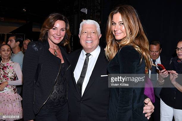 Luann de Lesseps designer Dennis Basso and Kelly Killoren Bensimon attend the Dennis Basso fashion show during New York Fashion Week The Shows at The...