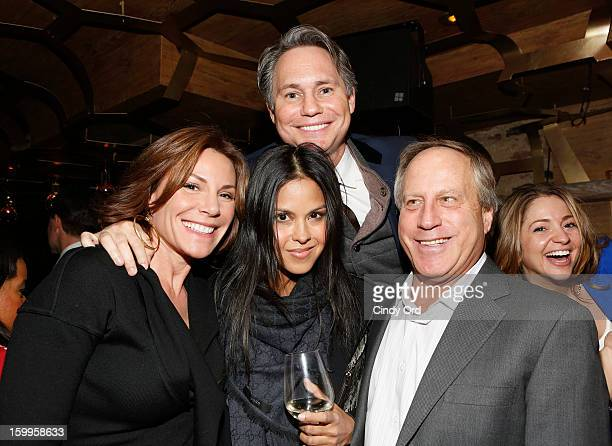 LuAnn de Lesseps Jason Binn and guests attend DuJour Magazine Gala with Coco Rocha and Nigel Barker presented by TW Steel at Scott Sartiano and...