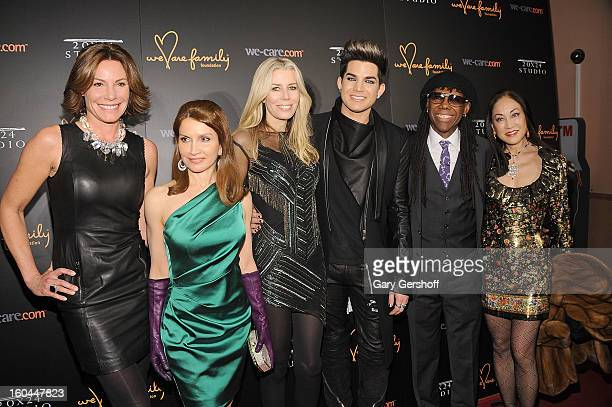 LuAnn De Lesseps Jean Shafiroff Aviva Drescher Adam Lambert Nile Rodgers and Lucia Hwong attend 2013 We Are Family Foundation Gala at Hammerstein...