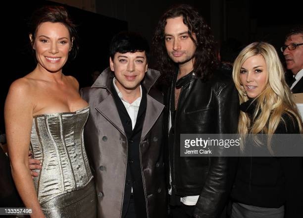 LuAnn de Lesseps Malan Breton Constantine Maroulis and Tinsley Mortimer attend Malan Breton Fall 2010 at Stage 37 on February 17 2010 in New York City