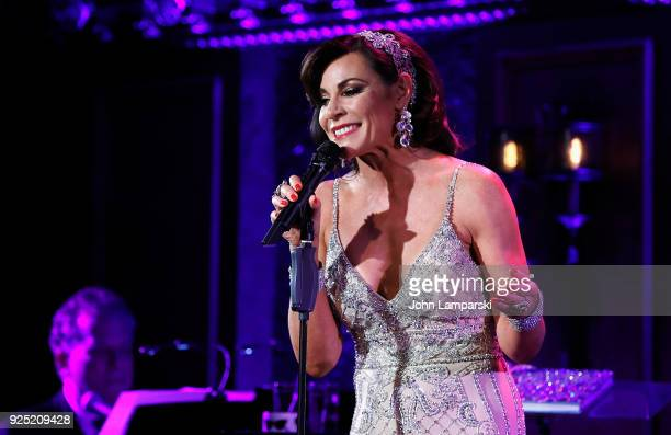 Luann De Lesseps performs during the Luann De Lesseps cabaret debut at Feinstein's/54 Below on February 27, 2018 in New York City.