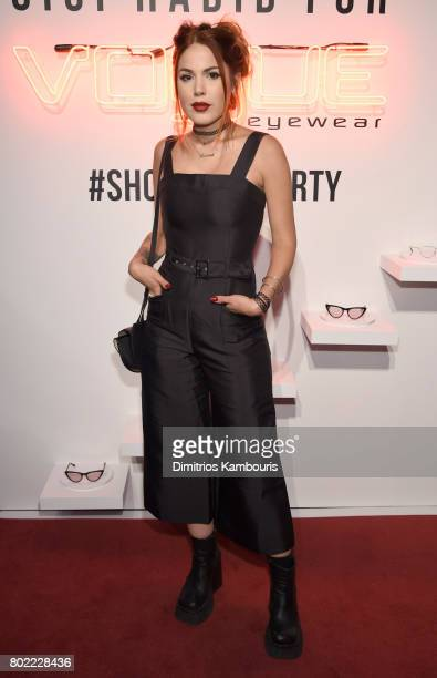Luanna Perez attends Gigi Hadid for Vogue Eyewear #ShowYourParty event at Industria Superstudio on June 27 2017 in New York City