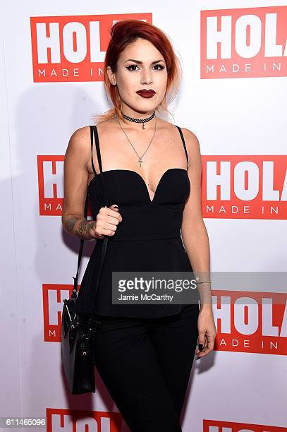 Luanna Perez attends the HOLA USA launch hosted by Alec Hilaria Baldwin at Porcelanosa on September 29 2016 in New York City