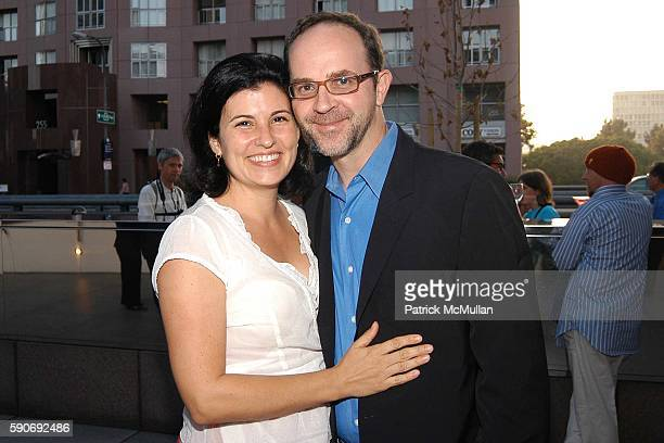 Luanne Elwes and Damien Elwes attend Basquiat Exhibition Preview at MOCA on July 15 2005 in Los Angeles CA