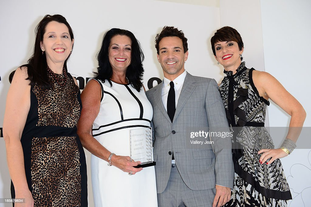 Luanne Lenberg, Diana Pattison, George Kotsiopoulos and Belkys Nerey appear at The Colonnade Outlets at the Sawgrass Mills Tour de Fashion at Sawgrass Mills Mall on October 25, 2013 in Sunrise, Florida.