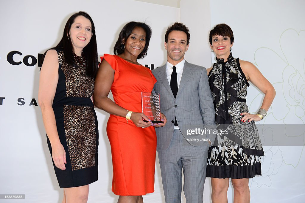 Luanne Lenberg, Joi Freeman, George Kotsiopoulos and Belkys Nerey appear at The Colonnade Outlets at the Sawgrass Mills Tour de Fashion at Sawgrass Mills Mall on October 25, 2013 in Sunrise, Florida.