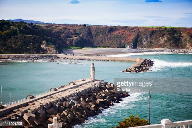 luarca. spain - quayside stock pictures, royalty-free photos & images