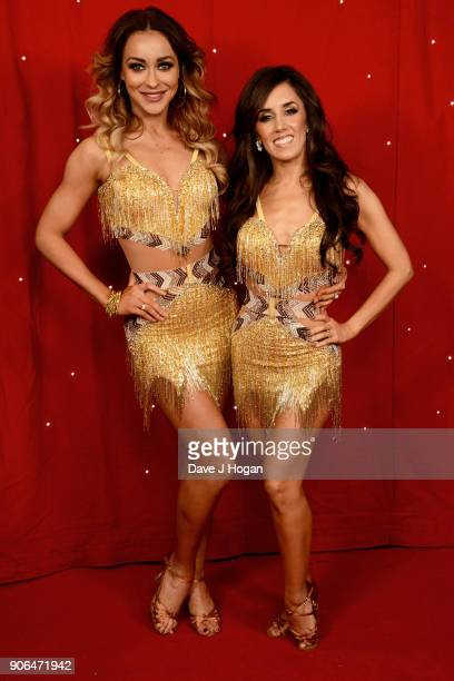 Luba Mushtuk and Janette Manrara attend the 'Strictly Come Dancing' Live photocall at Arena Birmingham on January 18 2018 in Birmingham England Ahead...