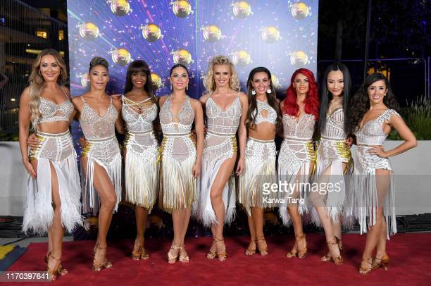 Luba Mushtuk Karen Clifton Oti Mabuse Katya Jones Nadiya Bychkova Amy Dowden Dianne Buswell Nancy Xu and Janette Manrara attend the Strictly Come...